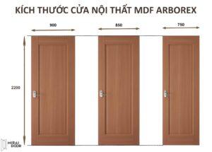 Mirai House là địa chỉ bán cửa gỗ công nghiệp tại Đà Nẵng duy nhất có kích thước tiêu chuẩn cho sản phẩm của mình.